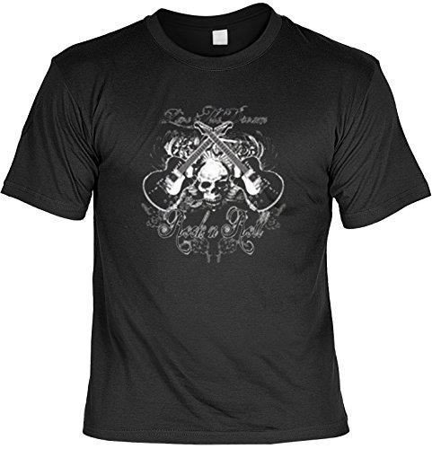 Unbekannt Musik Gitarre Rock Pop Motiv T-Shirt : Rock n Roll - T-Shirt bedruckt