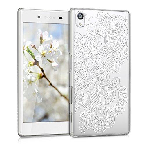 kwmobile Crystal Case Hülle für Sony Xperia Z5 mit Ethno Design - transparente Schutzhülle Cover klar in Weiß Transparent