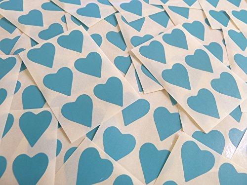 22x20mm Turquesa Con Forma De Corazón Etiquetas, 90 auta-Adhesivo Código De Color Adhesivos, adhesivo Corazones para Manualidades y Decoración