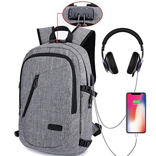 HITOP Backpack Bookbags Laptop Waterproof Fashion Cute Lightweight School Bag For Teen Girls Boys Men Women (Grey)