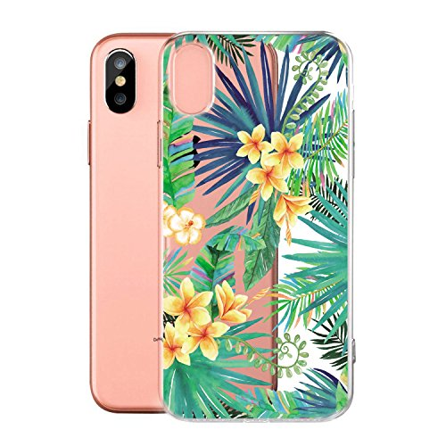 Per iPhone X Cover , YIGA Moda palloncino unicorno Cristallo Trasparente Silicone Morbido TPU Case Protezione Custodia per Apple iPhone X (5,8 pollici) WM96