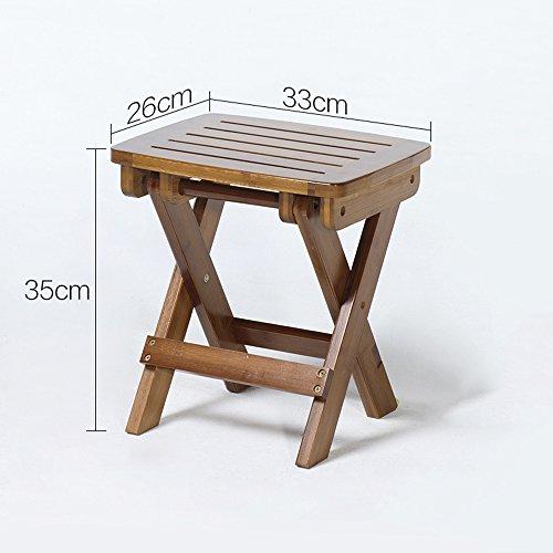 LJHA Sgabello in legno massiccio Seggiolino da apprendimento ...