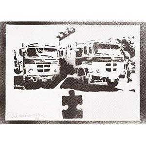 Lastkraftwagen Poster Plakat Handmade Graffiti Street Art - Artwork