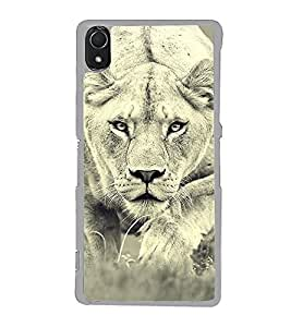 Prowling Lion 2D Hard Polycarbonate Designer Back Case Cover for Sony Xperia Z3 :: Sony Xperia Z3 Dual :: Sony Xperia Z3 D6633