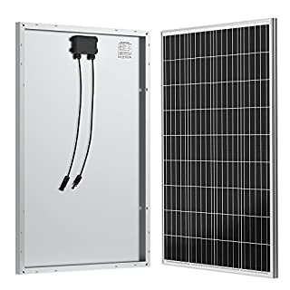 ALLPOWERS 100W 18V 12V Solar Panel Monocrystalline with MC4 Connector Solar Module Kit for Charging 12 Volt Battery in Motorhome Caravan Camper Boat or Yacht