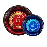 ROKOO Température de température de l'eau de 2 po 52 mm Indicateur de LED numérique Indicateur de tonalité de la jauge