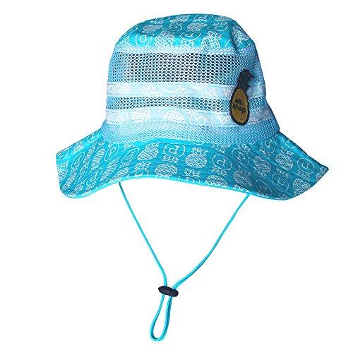 Baby Sun Hat Kids Fisherman Caps UPF 50+ Ala ancha 100% algodón Cubo con d1a9432816a4