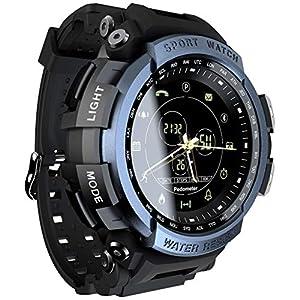 Chenang Smartwatch Wasserdicht IP68 1,3 Zoll Bildschirm Sport Uhr Fitness Tracker,Schrittzähler Uhr,Schlaftracker,Stoppuhr Anruf SMS Whatsapp Beachten für IOS Android Handy