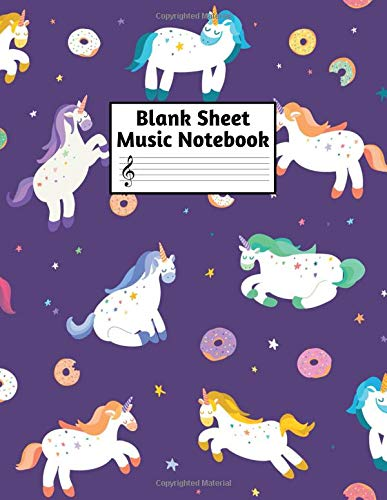 Blank Sheet Music Notebook: Easy Blank Staff Manuscript Book Large 8.5 X 11 Inches Musician Paper Wide 12 Staves Per Page for Piano, Flute, Violin, ... other Musical Instruments - Code : A4 7395