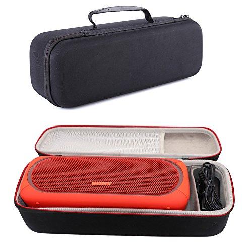 SRS-XB41 Tasche Hülle, Premium Tragetasche Cover Case für Sony SRS-XB41 kabelloser Bluetooth Lautsprecher and Sony SRS-XB40, Passend für USB-Kabel und Ladegerät (Schwarz) (Pack Case Mp3-player)