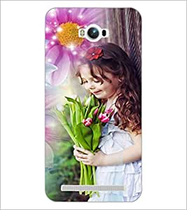 PrintDhaba Cute Baby D-5031 Back Case Cover for ASUS ZENFONE MAX ZC550KL (Multi-Coloured)