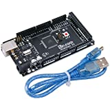 Elegoo Carte MEGA 2560 ATmega2560 ATMEGA 16U2 Board Noir avec Câble USB pour Arduino