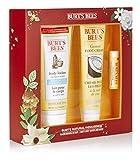 Burt's Bees Natural - Kit de regalo con loción corporal, crema para pies y bálsamo para labios