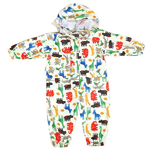 Vine Kids One Piece Rainsuit Coverall Baby Waterproof Jumpsuit (1-7 Years)