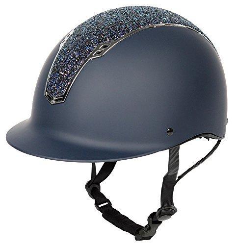"""Harry\'s Horse Reithelm \""""Centaur\"""", Sicherheitsreithelm mit Glitzer in schwarz, rosa und blau Harry\'s Horse (M-L, Navy-Blau)"""