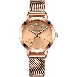 fashion steel Women Watch/Simple girls waterproof watch/ ladies quartz watch and leisure-A
