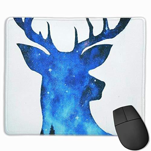 Deer Art Non-Slip Rubber Mouse Mat Mouse Pad for Desktops, Computer, PC and Laptops 9.8 X 11.8 inch (25x30cm) -