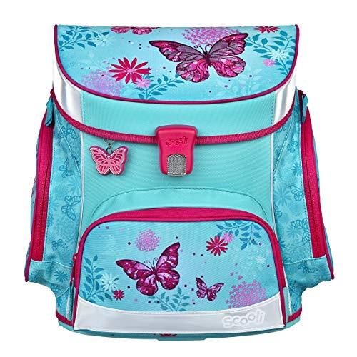Scooli Butterfly Schulranzen Set 10tlg. Dose/Flasche Sporttasche und Schultüte 85cm BUKR8251 - 2