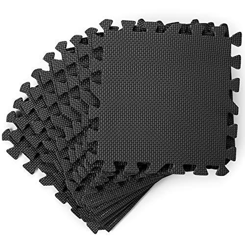20 tappetini puzzle per pavimento, 186x96cm - morbido e fermo eva schiuma, antiscivolo, robusto e spesso - protettivo in gomma tappetino incastro per casa palestra ginnastica fitness yoga garage.