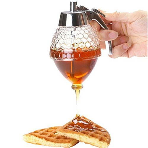 vinallo 200ml dispensador de panal acrílico dispensador de jarabe de miel olla para salsa barcos cristal