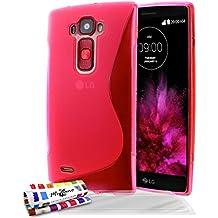 Muzzano F1409244 - Funda para LG G Flex 2 + 3 protecciones de pantalla, color rosa
