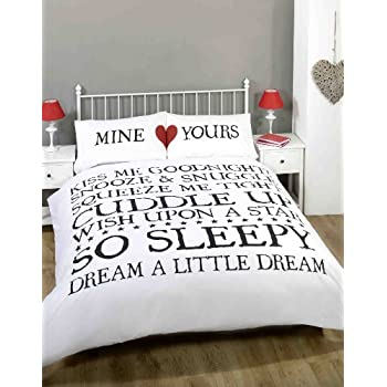 Made With Love Mine And Yours Love Heart Duvet Cover Quilt
