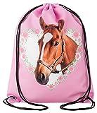 Aminata Kids – Turnbeutel Mädchen Pferd Pony im Herz mit