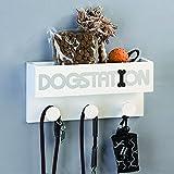 Casablanca Garderobe Dogstation weiss MDF B 30 cm 2er Set weiss/silber /schwarz zum Hängen