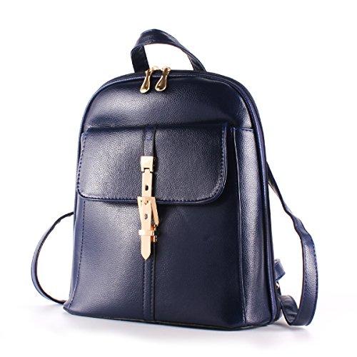 Ezeso Sacchetto di viaggio del zaino del sacchetto di spalla del sacchetto di cuoio dell'unità di elaborazione dell'unità di elaborazione per le donne delle ragazze Blue