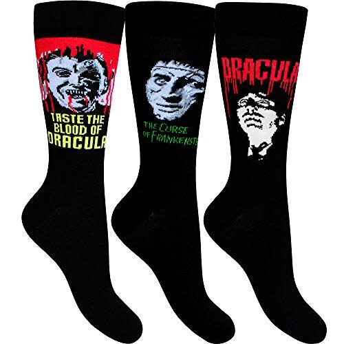 a & Frankenstein Halloween Socken (3 Paar Pack) (Halloween-socken)