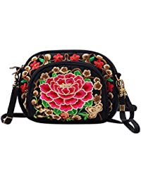 YAANCUN Mensajero Hombro Bandolera Bolso de Moda Bolsos de Tela Messenger Bag Crossbody Bolsa para Mujer