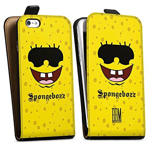 Apple iPhone X Silikon Hülle Case Schutzhülle Spongebozz BBM Fanartikel Merchandise Downflip Tasche schwarz