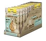 GimDog Tasty & Tender Chicken Leg – Getreidefreier Hundesnack aus zartem Hühnchenfleisch mit weichem, verzehrbarem Knochen – Zuckerfreie Belohnung aus 100% Huhn – 10er Pack (10 x 70 g)