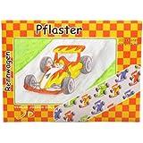 10 Pflaster * Rennwagen Rennauto * mit 19x72mm vom Döll-Verlag // 264402 // Kinderpflaster Kinder Mitgebsel