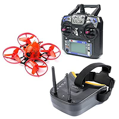 GEHOO GH Snapper7 Brushless Micro 75mm Racer Drone RC Quadcopter RTF 700TVL Camera VTX & Double Antenna Mini Goggles by GEHOO GH