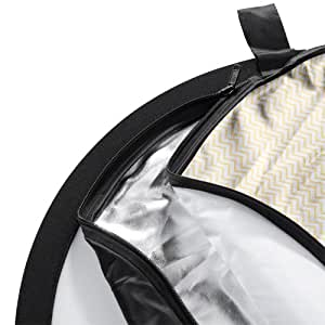 Walimex 5in1 Faltreflektor Set Ø107 cm (inkl. Transporttasche) wavy gold/silber/weiß/schwarz/transparent