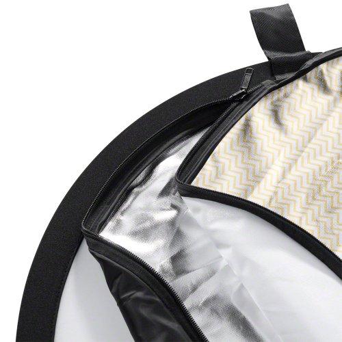 Walimex 5in1 Faltreflektor Set 107 cm (inkl. Transporttasche) wavy gold/silber/weiß/schwarz/transparent