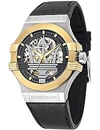 Maserati Reloj Analógico Automático para Hombre con Correa de Cuero – R8821108011