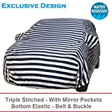 #10: AutoBurN Mahindra 100 Car Accessories - Car Body Cover with Mirror Pockets (Triple Stitched/Bottom Elastic/Exclusive Premium Range)
