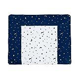 Wickelauflage Mond + Sterne 75x87 cm