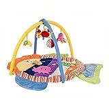 JYSPORT Alfombras de juego y gimnasios bebés animalitos gimnasio para manta de juegos manta juguetes educativos (Multicolored fish)
