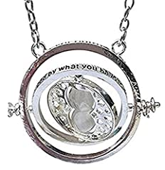 Idea Regalo - PIERRETOILES Collana Clessidra retourneur di Tempo Hermione in Harry Potter ... (Argento)