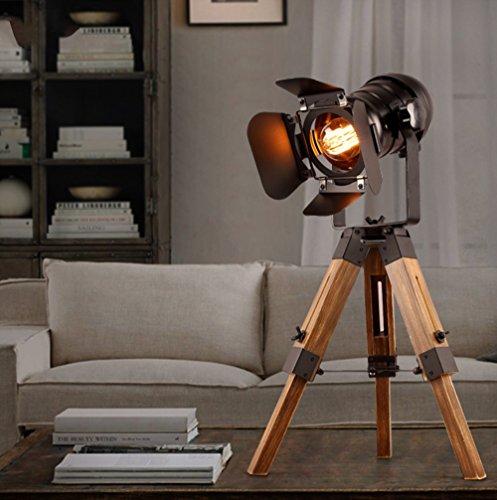 Économie d'énergie Protection des yeux - Fer trépieds industries créatives style peut être lampe étude de salon de chambre de lampe relevable - (Ne pas inclure la source lumineuse)