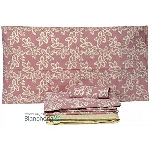 Copripiumino zucchi matrimoniale offbeat rosa (sacco cm.250x200+ cm.45 rimbocco =245 + 2 federa 50x80+1 sotto lenzuolo 175x200)