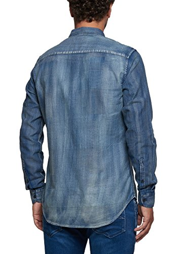 Replay - Chemise casual - Tie-Dye - Col Boutonné - Manches Longues - Homme Denim