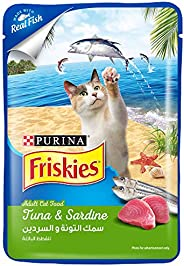 Purina Friskies Tuna and Sardine Adult Wet Cat Food 80g Blue