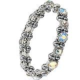 Wunderschönes Magnetarmband Frauen. 16 farblich wechselnde Kristalle. 32 Hämatit-Magnete