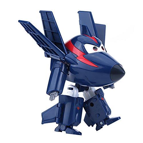 Dilwe 12CM Mini Robot Jouet, Dessin animé Super Wings Figurine Avion Transformable Cadeau d'anniversaire pour Enfants(# 1)
