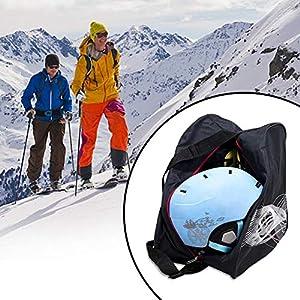 iBoosila Skischuhtasche Stiefeltasche mit Helmfach, extra große Skitasche Skisack für Skischuhe, Skihelm, Skibrille, wasserdicht -schwarz
