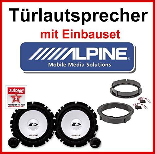 Lautsprecher Alpine mit Einbauset für VW Golf 4 (Pa-lautsprecher Car-audio)